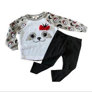 Sloth fleece outfit set